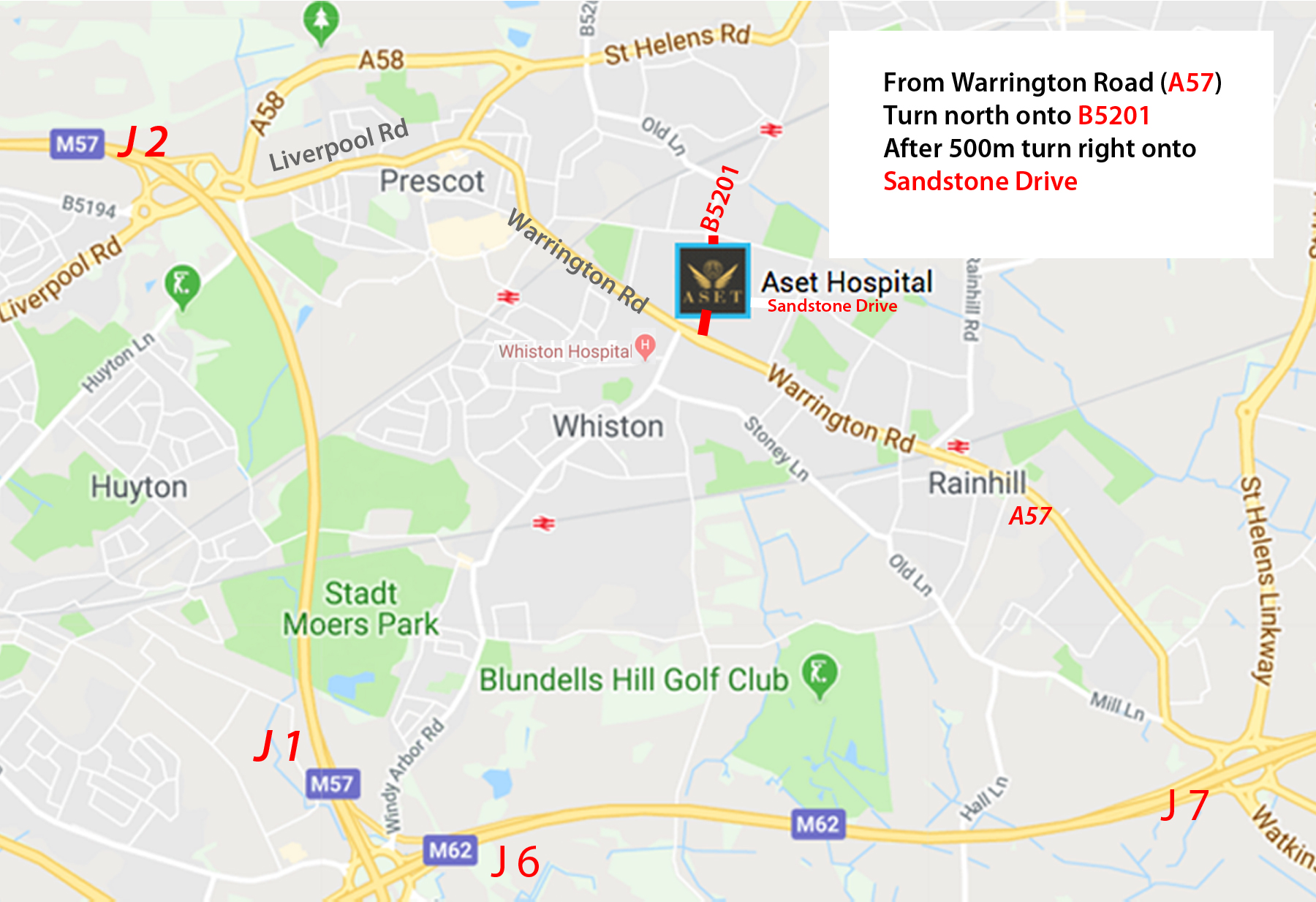 LOCATION MAP FOR aSET hospital cosmetic surgery hospital